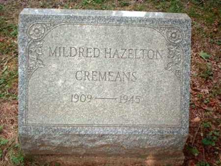 HAZELTON CREMEANS, MILDRED - Meigs County, Ohio | MILDRED HAZELTON CREMEANS - Ohio Gravestone Photos