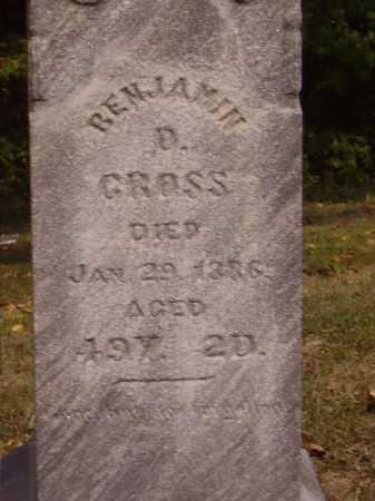 CROSS, BENJAMIN D. -  CLOSEVIEW - Meigs County, Ohio | BENJAMIN D. -  CLOSEVIEW CROSS - Ohio Gravestone Photos