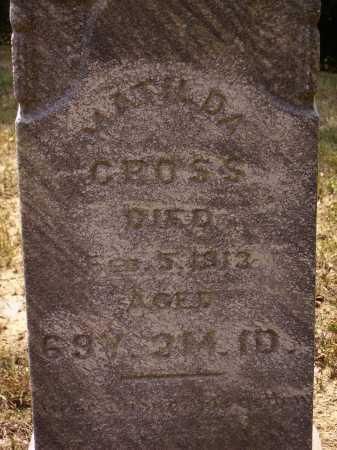 CROSS, MATILDA - Meigs County, Ohio   MATILDA CROSS - Ohio Gravestone Photos