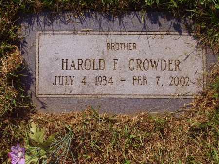 CROWDER, HAROLD F. - Meigs County, Ohio   HAROLD F. CROWDER - Ohio Gravestone Photos