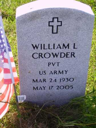 CROWDER, WILLIAM L. - Meigs County, Ohio   WILLIAM L. CROWDER - Ohio Gravestone Photos