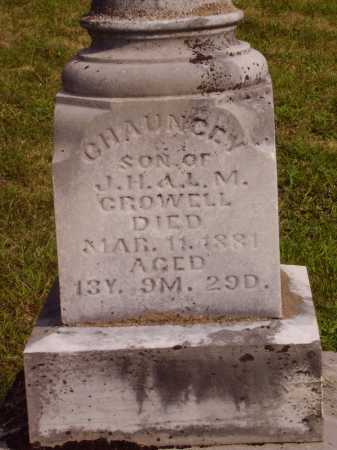CROWELL, CHAUNCEY - Meigs County, Ohio   CHAUNCEY CROWELL - Ohio Gravestone Photos