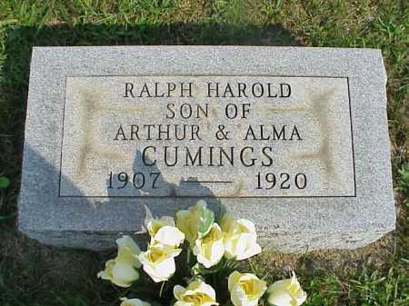 CUMINGS, RALPH HAROLD - Meigs County, Ohio   RALPH HAROLD CUMINGS - Ohio Gravestone Photos