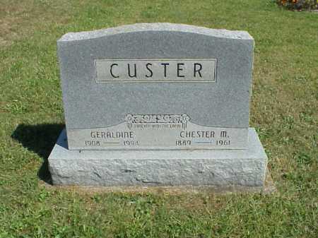 CUSTER, CHESTER M. - Meigs County, Ohio | CHESTER M. CUSTER - Ohio Gravestone Photos