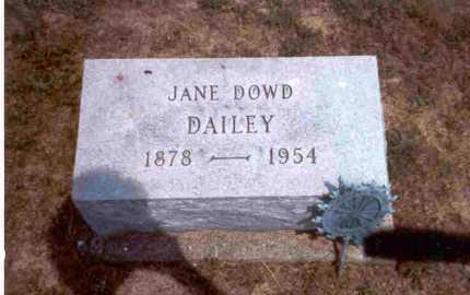 DAILEY, JANE DOWD - Meigs County, Ohio | JANE DOWD DAILEY - Ohio Gravestone Photos