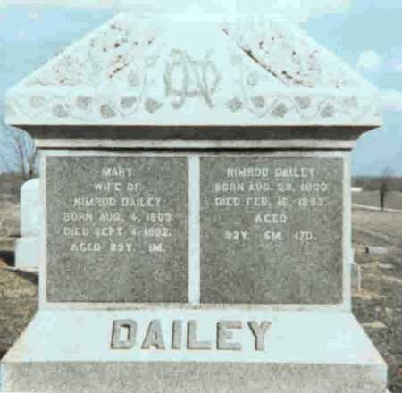 DAILEY, NIMROD - Meigs County, Ohio | NIMROD DAILEY - Ohio Gravestone Photos