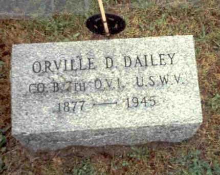 DAILEY, ORVILLE D. - Meigs County, Ohio   ORVILLE D. DAILEY - Ohio Gravestone Photos