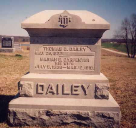 CARPENTER DAILEY, MARIAH B. - Meigs County, Ohio | MARIAH B. CARPENTER DAILEY - Ohio Gravestone Photos