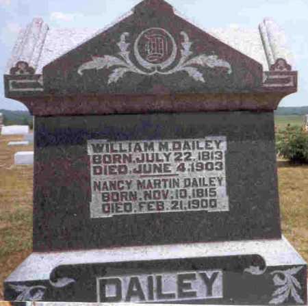 MARTIN DAILEY, NANCY - Meigs County, Ohio | NANCY MARTIN DAILEY - Ohio Gravestone Photos