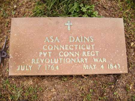 DAINS, ASA - CLOSE VIEW - Meigs County, Ohio   ASA - CLOSE VIEW DAINS - Ohio Gravestone Photos