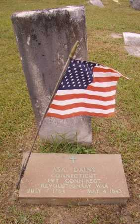 DAINS, ASA - Meigs County, Ohio | ASA DAINS - Ohio Gravestone Photos