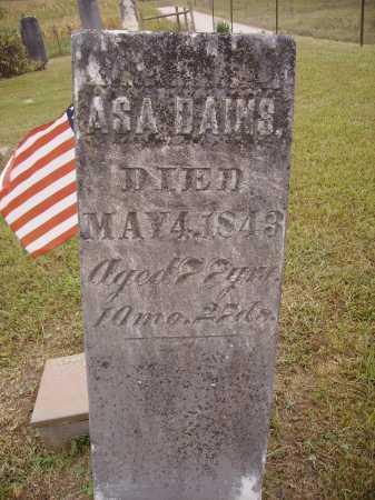 DAINS, ASA - Meigs County, Ohio | ASA DAINS - Ohio Gravestone Photos