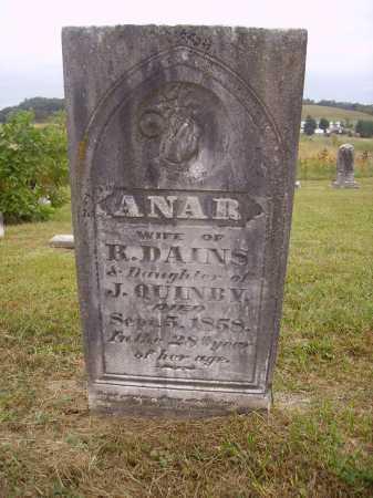 QUINBY DAINS, ANAR - Meigs County, Ohio | ANAR QUINBY DAINS - Ohio Gravestone Photos