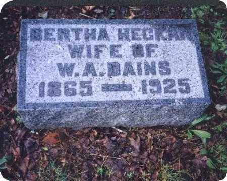 DAINS, BERTHA - Meigs County, Ohio | BERTHA DAINS - Ohio Gravestone Photos