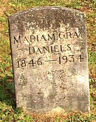 GRAY DANIELS, MARIAM - Meigs County, Ohio | MARIAM GRAY DANIELS - Ohio Gravestone Photos