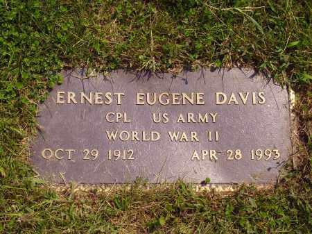 DAVIS, ERNEST EUGENE - Meigs County, Ohio | ERNEST EUGENE DAVIS - Ohio Gravestone Photos