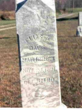 DAVIS, ELIAS P. - Meigs County, Ohio   ELIAS P. DAVIS - Ohio Gravestone Photos