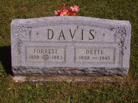 DAVIS, FORREST - Meigs County, Ohio | FORREST DAVIS - Ohio Gravestone Photos