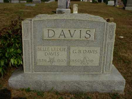 LEDLIE DAVIS, BELLE - Meigs County, Ohio | BELLE LEDLIE DAVIS - Ohio Gravestone Photos