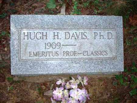 DAVIS, HUGH H. PH. D. - Meigs County, Ohio | HUGH H. PH. D. DAVIS - Ohio Gravestone Photos