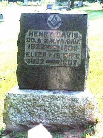 DAVIS, ELIZA - Meigs County, Ohio | ELIZA DAVIS - Ohio Gravestone Photos