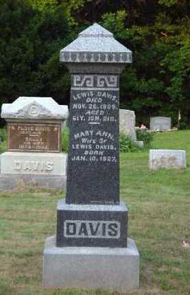 FRENCH DAVIS, MARY ANN - Meigs County, Ohio | MARY ANN FRENCH DAVIS - Ohio Gravestone Photos