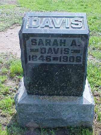 DAVIS, SARAH A. - Meigs County, Ohio | SARAH A. DAVIS - Ohio Gravestone Photos