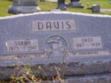 DAVIS, SARAH - Meigs County, Ohio | SARAH DAVIS - Ohio Gravestone Photos