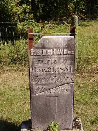 DAVIS, SR., STEPHEN - Meigs County, Ohio | STEPHEN DAVIS, SR. - Ohio Gravestone Photos