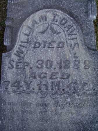 DAVIS, WILLIAM T. - Meigs County, Ohio | WILLIAM T. DAVIS - Ohio Gravestone Photos