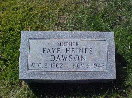 DAWSON, FAYE - Meigs County, Ohio | FAYE DAWSON - Ohio Gravestone Photos