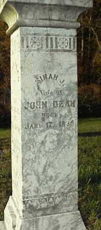 DEAN, SINAH J. - Meigs County, Ohio | SINAH J. DEAN - Ohio Gravestone Photos