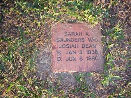 SAUNDERS DEAN, SARAH A. - Meigs County, Ohio | SARAH A. SAUNDERS DEAN - Ohio Gravestone Photos