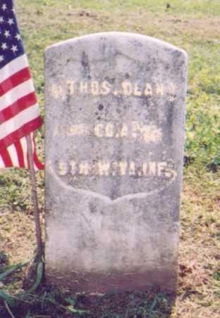 DEAN, THOMAS - Meigs County, Ohio   THOMAS DEAN - Ohio Gravestone Photos