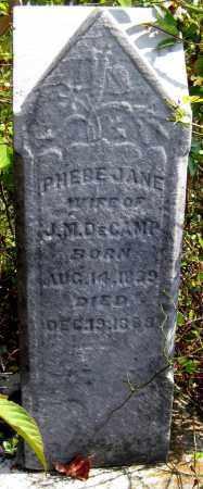 DECAMP, PHEBE JANE - Meigs County, Ohio | PHEBE JANE DECAMP - Ohio Gravestone Photos