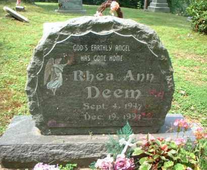 DEEM, RHEA ANN - Meigs County, Ohio   RHEA ANN DEEM - Ohio Gravestone Photos