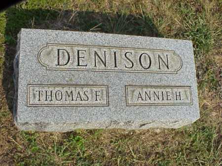 DENISON, ANNIE H. - Meigs County, Ohio | ANNIE H. DENISON - Ohio Gravestone Photos