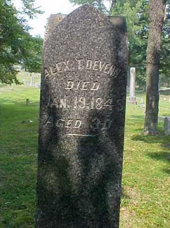 DEVENNY, ALEX T. - Meigs County, Ohio   ALEX T. DEVENNY - Ohio Gravestone Photos