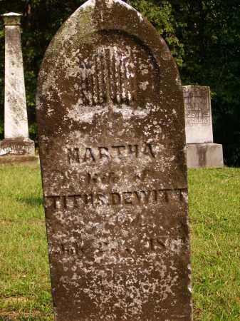 DEWITT, MARTHA - Meigs County, Ohio | MARTHA DEWITT - Ohio Gravestone Photos
