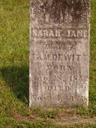 DEWITT, SARAH JANE - Meigs County, Ohio | SARAH JANE DEWITT - Ohio Gravestone Photos