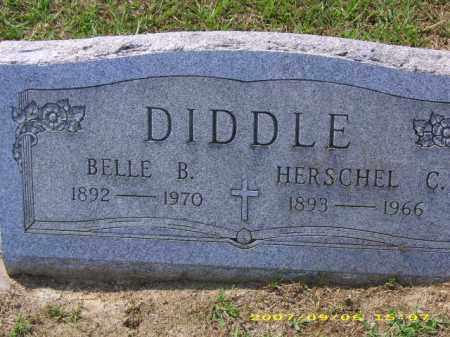 BORHAM DIDDLE, BELLE B - Meigs County, Ohio | BELLE B BORHAM DIDDLE - Ohio Gravestone Photos