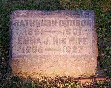 DODSON, RATHBURN - Meigs County, Ohio | RATHBURN DODSON - Ohio Gravestone Photos