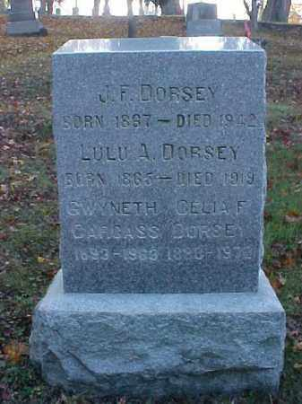 CARCASS DORSEY, GWYNETH - Meigs County, Ohio | GWYNETH CARCASS DORSEY - Ohio Gravestone Photos