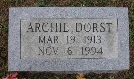 DORST, ARCHIE - Meigs County, Ohio   ARCHIE DORST - Ohio Gravestone Photos