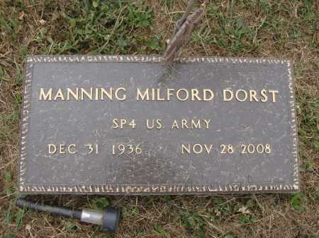 DORST, MANNING MILFORD - Meigs County, Ohio | MANNING MILFORD DORST - Ohio Gravestone Photos