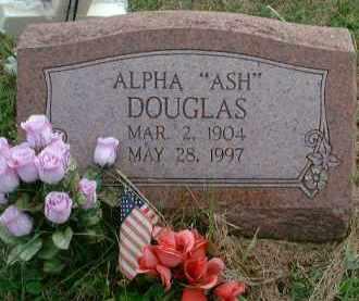 DOUGLAS, ALPHA ASH - Meigs County, Ohio | ALPHA ASH DOUGLAS - Ohio Gravestone Photos