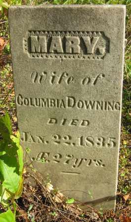 DOWNING, MARY - Meigs County, Ohio   MARY DOWNING - Ohio Gravestone Photos