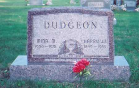 DUDGEON, MINA M. - Meigs County, Ohio | MINA M. DUDGEON - Ohio Gravestone Photos