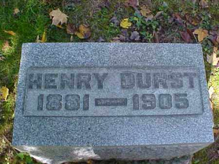 DURST, HENRY - Meigs County, Ohio | HENRY DURST - Ohio Gravestone Photos