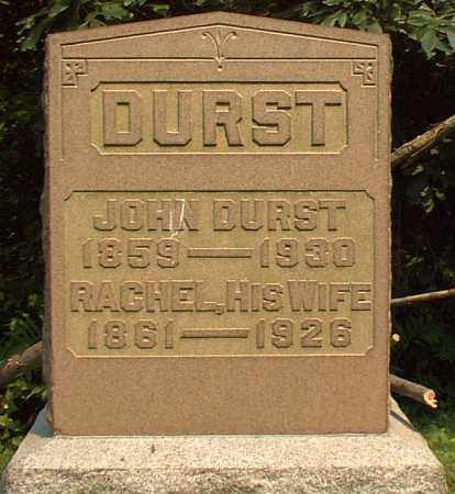 ZEIHER DURST, RACHEL - Meigs County, Ohio | RACHEL ZEIHER DURST - Ohio Gravestone Photos